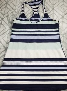 LULULEMON Womens Racerback Top Sz 6 Striped